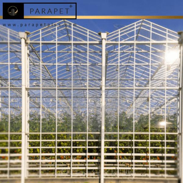 ساخت گلخانه شیشه ای استیل شیک و مدرن