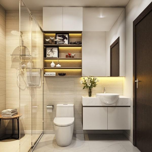 قرارگیری توالت در حمام