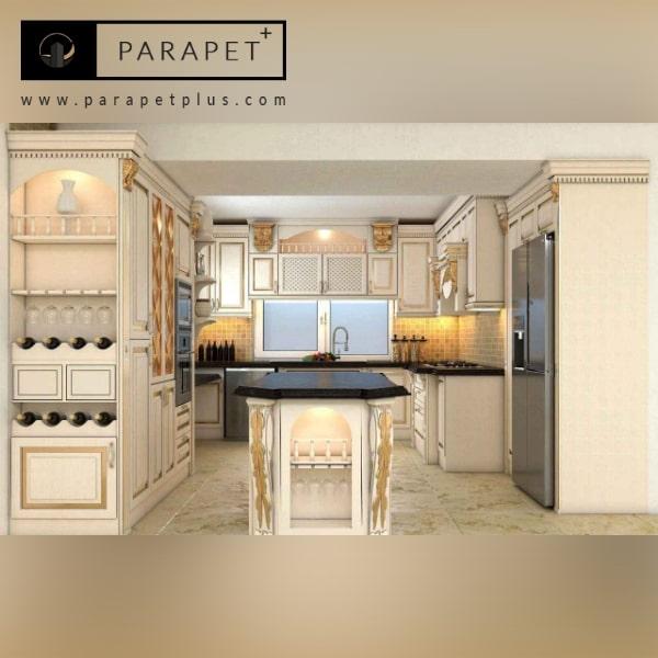 کابینت آشپزخانه به سبک کلاسیک